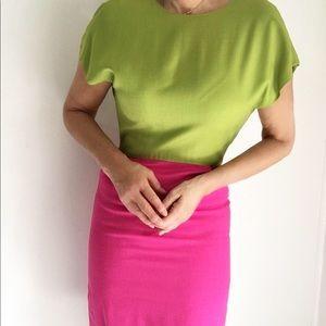 Vintage Color Block Adele Simpson Dress